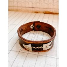 Leather thin leather sterling bracelet